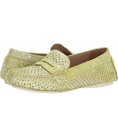 Johnston & Murphy Lime Metallic Print Suede