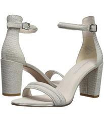 Kenneth Cole New York Silver Metallic Embossed Lea