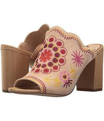 Sam Edelman Natural Naked/Yellow Multi Embroidery
