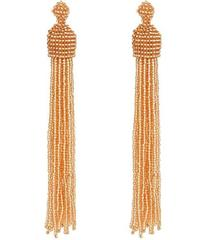 Kenneth Jay Lane Champagne Bead Tassel Direct Post
