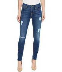 7 For All Mankind Ankle Skinny w/ Destroy in Royal
