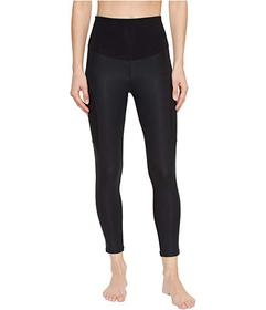 Yummie Coated Side Panel Ankle Length Leggings