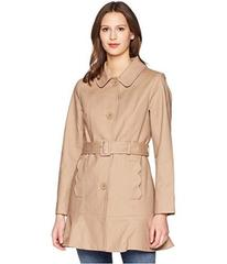 """Kate Spade New York 33.5"""" Single Breasted Trench C"""