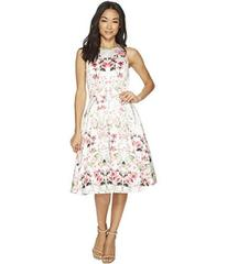 Tahari by ASL Floral Fit-and-Flare Dress