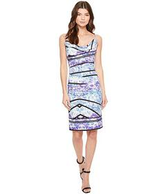 Nicole Miller Stamped Paisleys Carly Tuck Dress