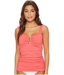 Tommy Bahama Pearl Over-The-Shoulder Shirred Tanki