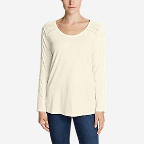 Women's Willow Lace Long-Sleeve Scoop T-Shirt