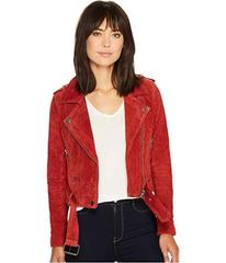 Blank NYC Moto Jacket in Red My Mind