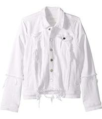 Blank NYC Distressed White Denim Jacket in Heartbr