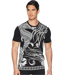 Versace Collection Floral Frame Print T-Shirt