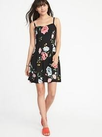 Floral Fit & Flare Cami Dress for Women