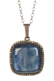 ADORNIA Zora Kyanite & Champagne Diamond Necklace
