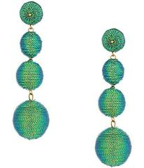 Kenneth Jay Lane 3 Green Thread Small To Large Wra
