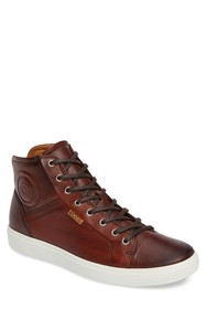 ECCO Soft 7 High-Top Leather Sneaker
