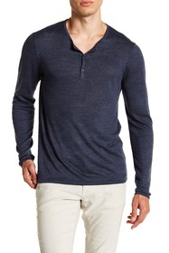 John Varvatos Star USA Linen Blend Henley