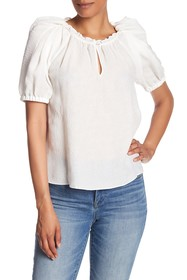 Rebecca Taylor Rose Silk Blend Cloque Blouse