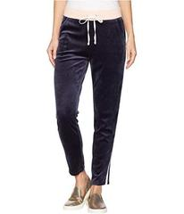Juicy Couture Track Lightweight Velour Stripe Pant