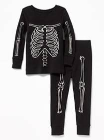 Glow-in-the-Dark Skeleton Sleep Set for Toddler &