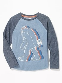 Graphic Raglan-Sleeve Tee for Boys