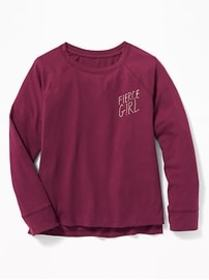 Relaxed Graphic Raglan Tee for Girls