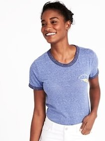 Tuck-In Slim-Fit Graphic Tee for Women