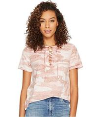 Lucky Brand Camo Lace-Up Tee