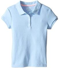 Nautica Short Sleeve Polo with Picot Stitch Collar