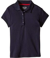 Nautica Girls Plus Short Sleeve Polo with Picot St