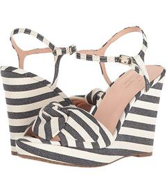Kate Spade New York Black/Cream Striped Canvas