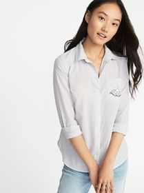 Relaxed Printed Classic Shirt for Women