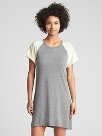 Short Sleeve Raglan Swing Dress