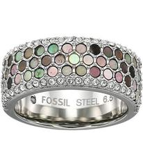 Fossil Mother-of-Pearl Pave Ring