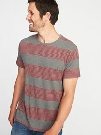 Soft-Washed Perfect-Fit Striped Tee for Men