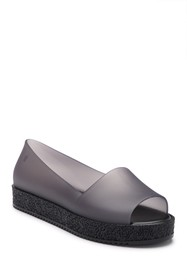 Melissa Puzzle Open Toe Slip-On Wedge