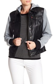 Levi's Hooded Faux Leather Jacket
