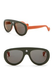 Moncler Blanche 55mm Modified Aviator Sunglasses