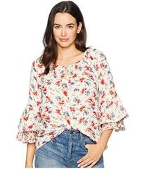 CHAPS Ruffled Floral Top