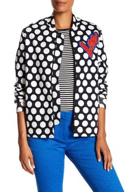 LOVE Moschino Dotted Patch Bomber Jacket