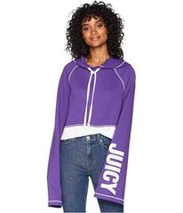Juicy Couture Track Fleece Cropped Pullover