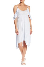 Lucky Brand Solid Cold Shoulder Dress