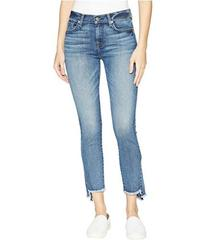 7 For All Mankind Skinny Frayed Kick Side in Canyo