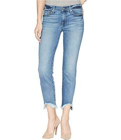 7 For All Mankind Roxanne Ankle w/ Wave Hem in Can