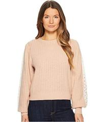 See by Chloe Sweater with Lace Trim