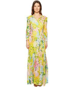 Boutique Moschino Flower Printed Creponne Maxi Dre