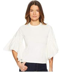 See by Chloe T-Shirt with Poplin Sleeves