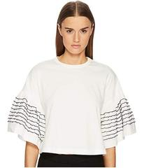See by Chloe T-Shirt with Embellished Sleeves