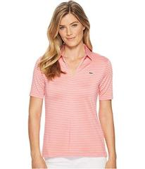 Lacoste Jersey Rayon Striped Golf Performance Polo