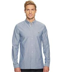 Lacoste Long Sleeve Solid Oxford Stretch Button Do