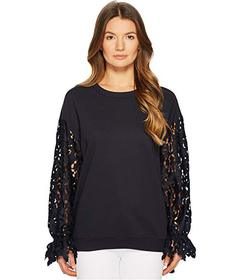 See by Chloe Sweatshirt with Lace Sleeves