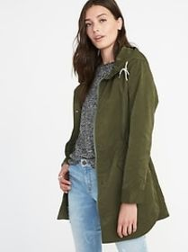 Hooded Utility Anorak for Women